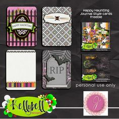 Free Happy Haunting Journal Cards | Kellybell Designs