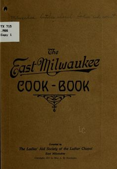 The East Milwaukee cook-book