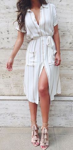 Summer white lace mini dress.