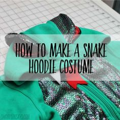 Turn a plain hoodie and sweatpants into an amazing snake costume! This DIY tutorial from Swoodson Says shows how. The hood makes a perfect snake head, with snake eyes sewn to the top and a slithery snake tongue coming out… Read more ...