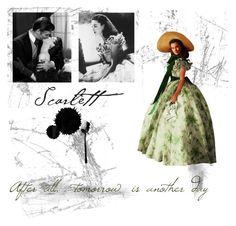 """Scarlett O'Hara"" by alittledaisyforyou ❤ liked on Polyvore"