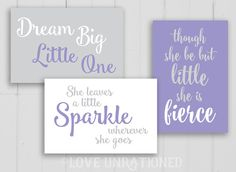 Lavender Nursery Decor Matching Nursery Prints by loveunrationed