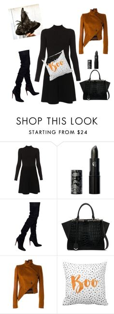 """Untitled #33"" by positiveleeforyou ❤ liked on Polyvore featuring Paule Ka, Lipstick Queen, Balmain, Fendi and Ann Demeulemeester"