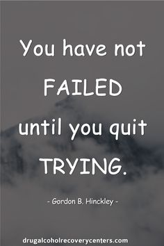 You have not failed until you quit trying. Quit Smoking Quotes, Quit Smoking Motivation, Help Quit Smoking, Favorite Quotes, Best Quotes, Funny Quotes, Yoga Words, Quotes To Live By, Life Quotes