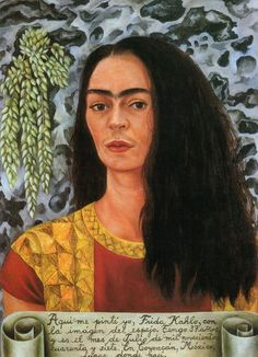 Frida Kahlo Portrait of a girl with a ribbon around her waist,1929 Self portrait time flies,1929 Portrait ...