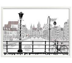 Amsterdam architecture print  Amsterdam por ArtsAndTravelPrints