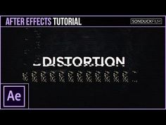 After Effects Tutorial: Glitch Digital Distortion Effect for Motion Graphics - YouTube