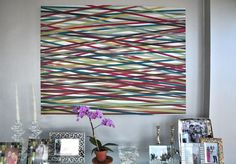 Are you a fan of washi tape and wall art? The two come together in these 15 inspirational washi tape wall art project ideas! Diy Washi Tape Art, Washi Tape Wall, Masking Tape, Mt Tape, Washi Tapes, Duck Tape, Tape Wall Art, Diy Wall Art, Diy Art