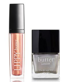 Take a look at this Wag Lip Gloss & Bobby Dazzler Nail Polish by butter LONDON on #zulily today!