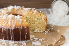 Coconut Pound Cake with Coconut Glaze | dramatic pancake | bring something to the table