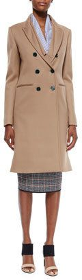Victoria Beckham Double-Breasted Wool Twill Coat