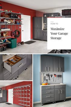 Time for a quick garage cleanup? Here are some of our favorite simple ways to prepare your garage for the winter months. Kitchen Appliances Brands, Kitchen Appliance Storage, Small Kitchen Storage, Kitchen Cabinet Storage, Storage Cabinets, Garage Storage, Locker Storage, Storage Organization, Garage Pictures