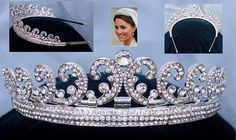 Royal Kate Middleton Inspired Crystal Diamante Silver Bridal Tiara