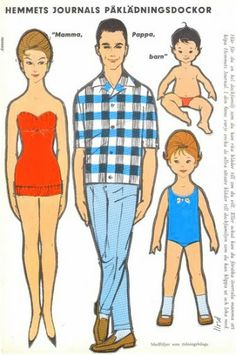 FAMILY * Free paper dolls at Arielle Gabriel's The International Paper Doll Society