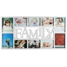 Consigue ya nuestro nuevo portafotos Family, un marco de fotos familiar con un diseño muy original, perfecto para sorprender y emocionar a tus seres queridos. El portafotos Family es un regalo ideal para quienes todavía creen en la familia, además de un bonito y emotivo adorno para cualquier estancia de tu hogar. Con este portafotos, tus momentos más especiales junto a los tuyos no quedarán en el olvido.Características del portafotos Family:Portafotos de plástico.Dimensiones: 73 x 37 cm ...