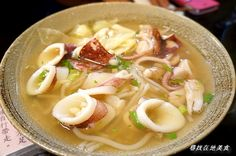 Taiwanese squid noodle soup