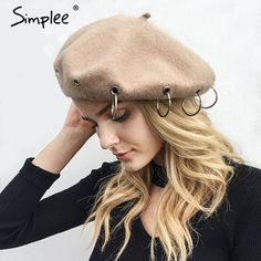 Apparel Accessories Reliable Fashion Women Pu Leather Pearl Cap Beret Hat Brand Vogue Casual Lady Autumn And Winter Warm Girl Sweet Painter Hats
