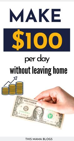 Make $100 a day with these creative extra income ideas! These are some of the best ways to make money from home or online today!how to make 100 dollars fast ,how to make $100 a day from home , how to make $100 a day online#earnmoneyonline #makemoneyfromhome #makeextramoney #earnmoney #workfromhome Survey Companies, Survey Sites, Make 100 A Day, Make Money From Home, Earn Extra Income, Extra Money, Ways To Save Money, How To Make Money, Quick Cash
