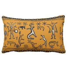 Witchey spell, ritualistic design throw pillow from my Zazzle shop:  Witches Hammer - It goes well in African and Tribal decor.