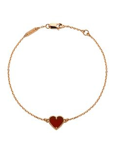 Van Cleef & Arpels 18K Rose Gold Sweet Heart Alhambra Bracelet at London Jewelers!