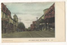 View of East Market Street WILLIAMSTOWN PA Vintage Dauphin County Postcard