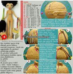 Амигуруми. Куколка Мулатка крючком (5)