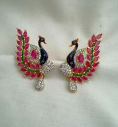 Peacock earrings...