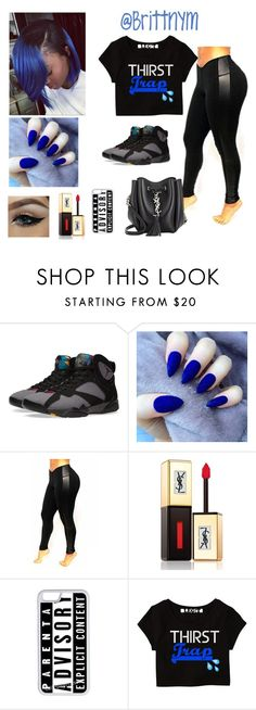 """""""@Brittnym royal Blue"""" by brittnym ❤ liked on Polyvore featuring NIKE, Yves Saint Laurent, CellPowerCases, women's clothing, women's fashion, women, female, woman, misses and juniors"""