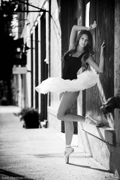 Senior picture with pointe shoes...love it