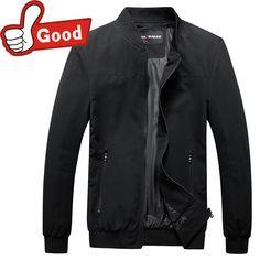 2016 Thin Jacket Men Fashion Casual Loose Mens Jacket style Solid Bomber Jacket Mens Zipper Coats  #Affiliate