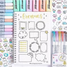 Raspberry Stationery Frame ideas for your bullet journal/study notes 📝 💕 📷 Bullet Journal School, Bullet Journal Headers, Bullet Journal Banner, Bullet Journal Notebook, Bullet Journal Ideas Pages, Bullet Journal Inspiration, Bullet Journal Frames, Journal Fonts, Journal Themes