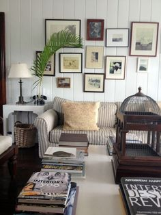 Inside Hibiscus Hill's guest house. I could have spent days looking at all of the details. @hsn love the couch!