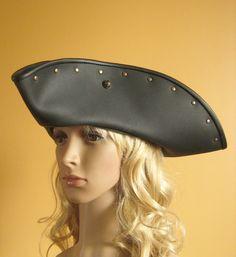 Serie Black Flag Medieval Renaissance SCA Larp Tricorn Pirate Captain Big Hat