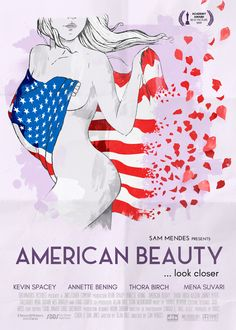 American Beauty (1999) - 20 carteles de cine de las últimas 20 ganadoras del Oscar a 'Mejor película'.