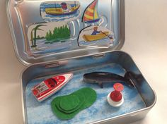 Ocean Altoids Toy, Whale/Boat Altoids Playset,Beach Altoids Toy, Childs Summer Altoids Travel Toy, Boat Quiet Time Altoids Tin by kattymoon on Etsy https://www.etsy.com/listing/538829021/ocean-altoids-toy-whaleboat-altoids