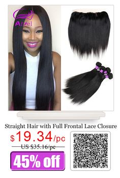 Brazilian Virgin Hair Straight 4 Bundles Brazilian Virgin Hair with Closure 13x4 Ear to Ear Full Lace Frontal Closure with Bundles