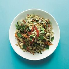 Green Papaya Salad A refreshing and spicy raw salad with Thai flavours of ginger, chilli and sesame From our new cookbook. Pesto, Bbc Good Food Show, Green Papaya Salad, Summer Salads, Summer Food, New Cookbooks, Food Shows, Chocolate, Japchae