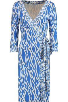 DIANE VON FURSTENBERG Julian Printed Silk-Jersey Wrap Dress. #dianevonfurstenberg #cloth #dress