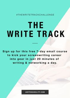 A free 7-day email course to kick your screenwriting career into gear in just 20 minutes a day. Write and network in the film and television industry. Make it easy with this jumpstart. Click through the image above to sign-up for your free course.