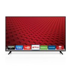 Watch quality TV with rich colors and vibrant graphics on the VIZIO Full-Array LED Smart HDTV. The all-new 2015 E-Series smart TV has arrived. It features a new, modern. Plasma Tv, Instant Video, Internet Tv, Tv Reviews, Tv Videos, Smart Tv, Hd 1080p, Tvs, Tv