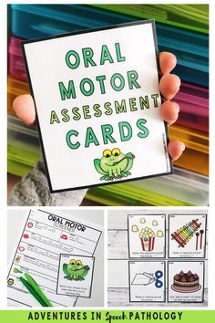 If you give an oral facial, or oral mechanism exam as part of your speech sound evaluation, then these cards might be a useful tool. It can help to explain in child-friendly terms, what you would like the child to do, and it can help them to increase their participation. Great tools for SLPs to use in their speech therapy assessment and evaluation #oralfacialexam #oralmechexam #speechtherapy Articulation Therapy, Articulation Activities, Speech Therapy Activities, Speech Pathology, Speech Language Pathology, Speech And Language, Oral Motor Activities, Communication Activities, Childhood Apraxia Of Speech
