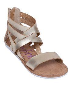 a7ba7d26513 Look at this Blowfish Malibu Gold Ella Sandal on  zulily today! Blowfish  Shoes