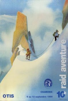 10è Raid Aventure Otis Chamonix 1999 - Affiche d'après Samivel