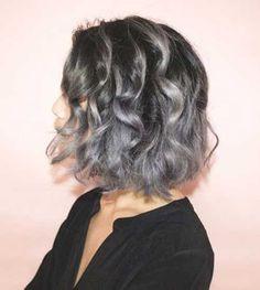 8. Short Grey Haircut