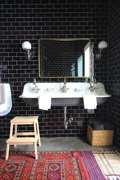 A Twist on Neutral Kitchens and Baths - Little Green Notebook