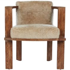 Cerused Oak Armchair | From a unique collection of antique and modern dining room chairs at https://www.1stdibs.com/furniture/seating/dining-room-chairs/