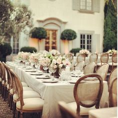 Backyard estate wedding reception. So elegant.