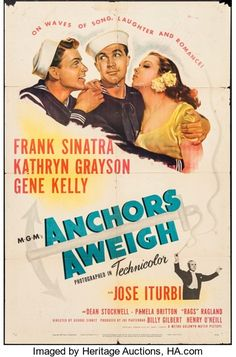 """Movie Posters:Musical, Anchors Aweigh (MGM, 1945). One Sheet (27"""" X 41""""). Musical.. ..."""