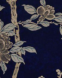 Tapet Marlowe Floral Prussian Blue från Ralph Lauren