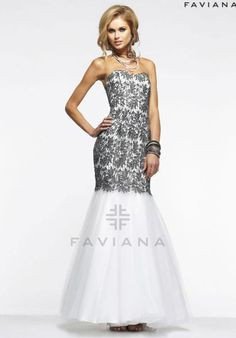 Faviana Dress S7327 at Peaches Boutique